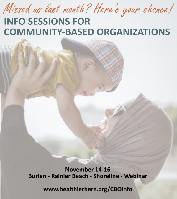 Final CBO Info Sessions November 14-16. Register Today!