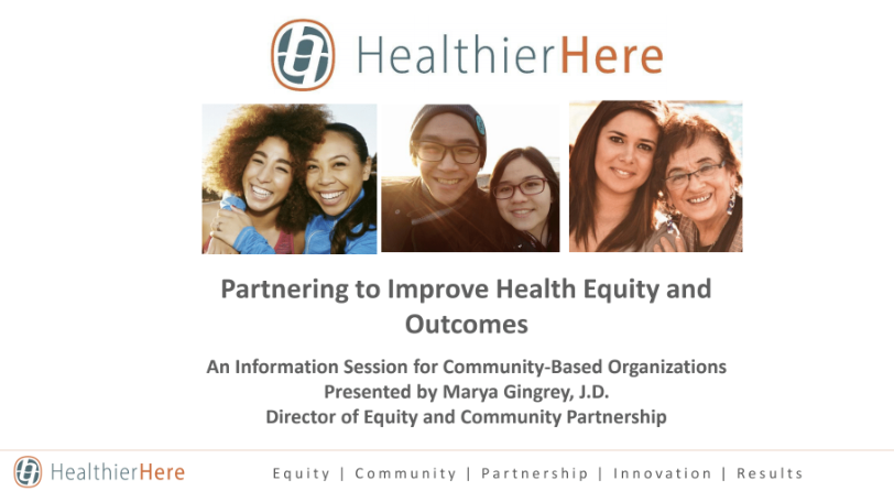 Interested in becoming a HealthierHere Community Partner? Here's the next step.